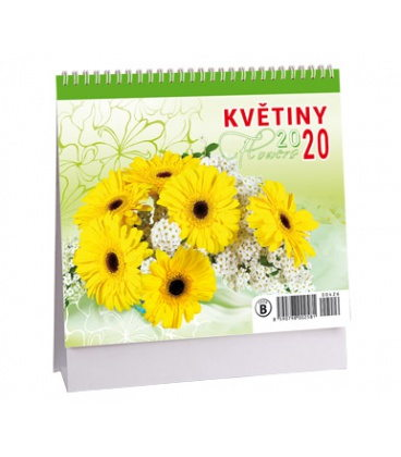 Table calendar Květiny - MINI 2020