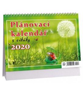 Table calendar Plánovací s citáty 1 - zelený 2020