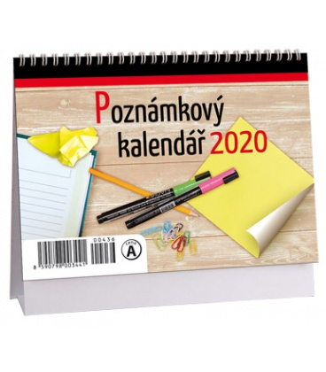 Table calendar Poznámkový MIKRO 2020