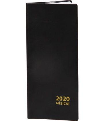 Pocket diary monthly PVC - black 2020