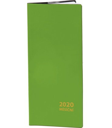 Pocket diary monthly PVC - green 2020