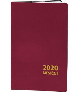 Pocket diary monthly PVC - MINI - bordo 2020