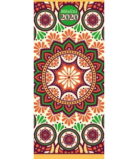 Pocket diary monthly lamino - Ornamenty 2020