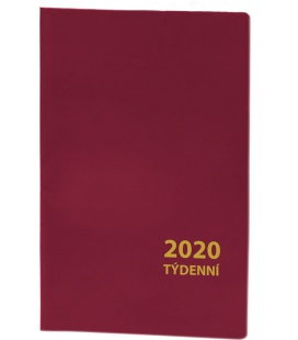 Pocket diary fortnightly PVC - bordo 2020