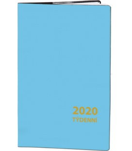 Pocket diary fortnightly PVC - blue 2020