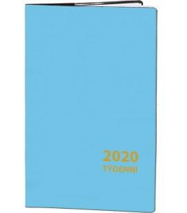 Pocket diary fortnightly PVC - blue 2020