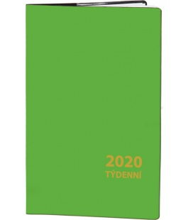 Pocket diary fortnightly PVC - green 2020