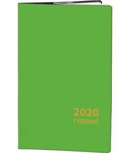 Pocket diary fortnightly PVC - green 2020