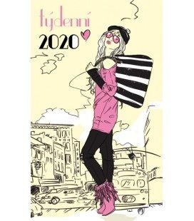 Pocket diary fortnightly lamino - Dáma 2020