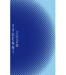 Pocket diary fortnightly lamino - Modrý rastr 2020