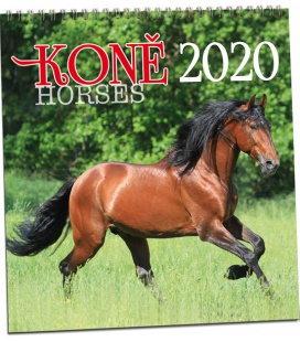 Wall calendar Koně 2020
