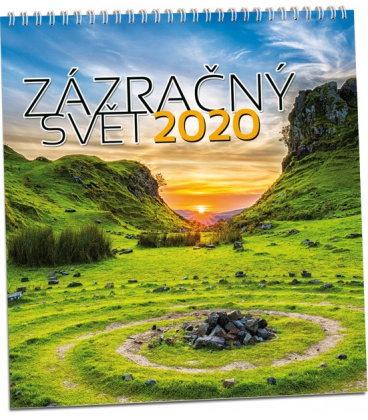 Wall calendar Zázračný svět 2020