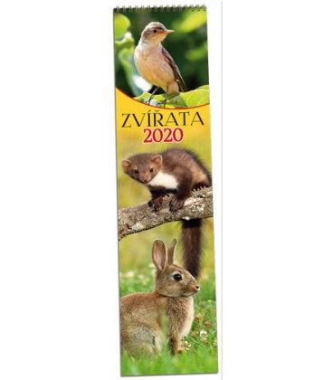 Wall calendar Zvířata - vázanka 2020