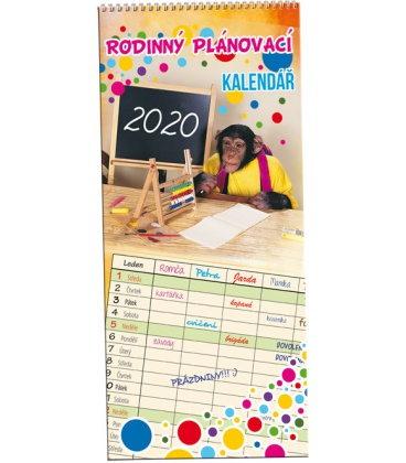 Wall calendar Family planing 2 / Rodinný plánovací 2 - Mazlíčci 2020