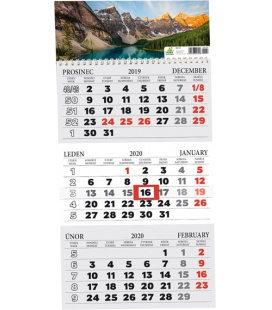 Wall calendar 3 monthly / Tříměsíční s okénkem 2020