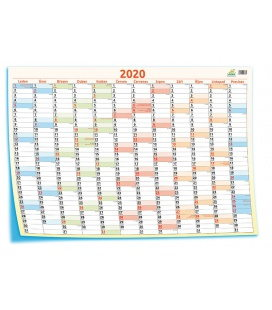 Wall calendar Yearly planing map / Plakát mapový 69 x 47,5 cm 2020