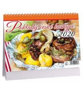 Table calendar Poklady české kuchyně 2020