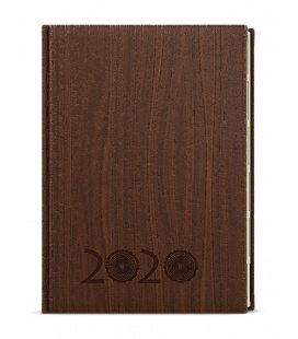 Weekly Diary A5 - Oskar - wood - hnědá 2020