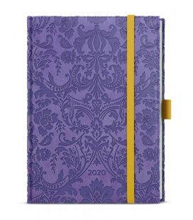 Weekly Diary B6 - Prokop - vivella extra - fialová - Ornamenty 2020