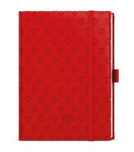 Daily Diary B6 - Adam - vivella extra - červená - Srdce 2020