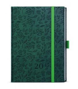 Daily Diary B6 - Adam - vivella extra - zelená - Listy 2020