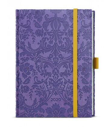 Daily Diary B6 - Adam - vivella extra - fialová - Ornamenty 2020
