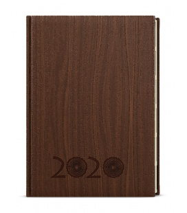 Daily Diary A5 - Ctirad s výsekem - wood - hnědá 2020