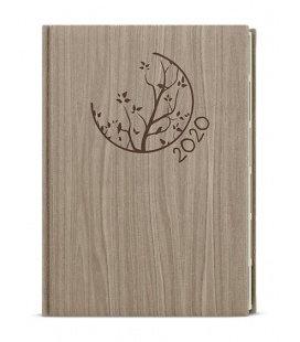 Daily Diary A5 - Ctirad s výsekem - wood - světle hnědá 2020