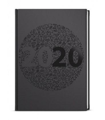 Daily Diary A5 - David - ForMen - Black 2020