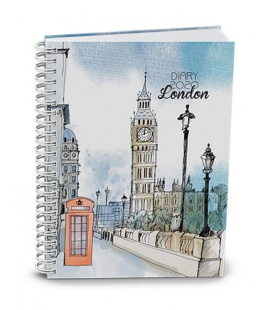 Weekly Pocket Diary - Egon - twin wire - lamino - London 2020