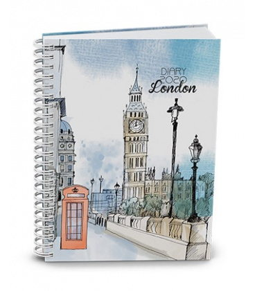 Weekly Pocket Diary - Egon - twin wire - lamino - London 2020