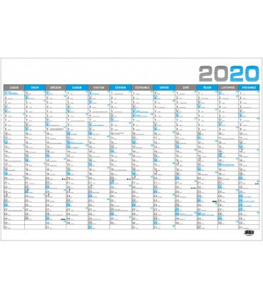 Wall calendar Nástěnný roční B1 - modrý 2020