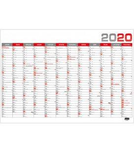 Wall calendar Nástěnný roční B1 - červený 2020