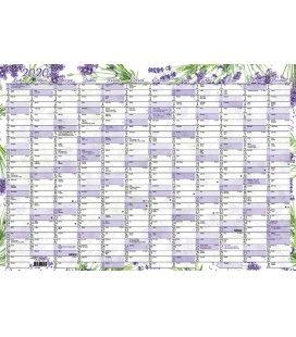 Wall calendar Nástěnný roční (600x420 mm) - Levandule 2020
