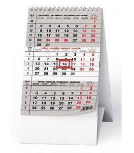 Table calendar Mini tříměsíční 2020