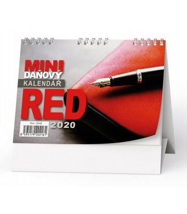 Table calendar Mini daňový kalendář RED 2020