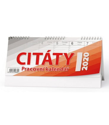 Table calendar Pracovní kalendář CITÁTY I 2020