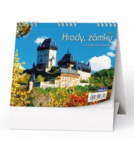 Table calendar IDEÁL - Hrady, zámky a památky ČR 2020