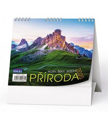 Table calendar IDEÁL - Příroda, hory, řeky, jezera… 2020