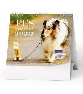 Table calendar IDEÁL - Pes, věrný přítel - se psími jmény 2020