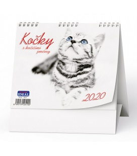 Table calendar IDEÁL - Kočky - s kočičími jmény 2020