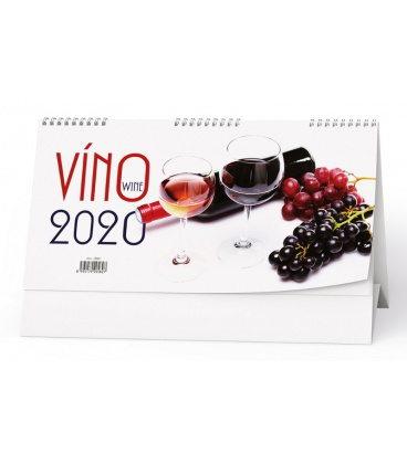 Table calendar Víno 2020