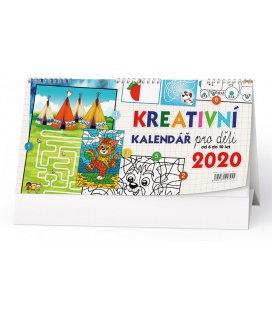 Table calendar Kreativní kalendář pro děti 2020
