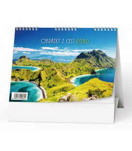 Table calendar Obrázky z cest 2020