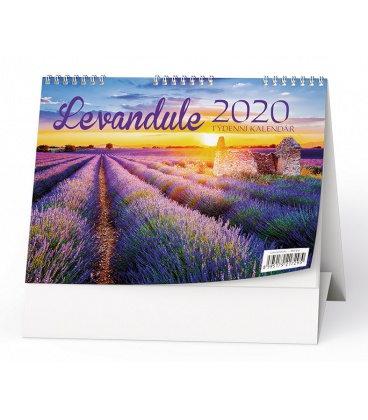 Table calendar Levandule 2020