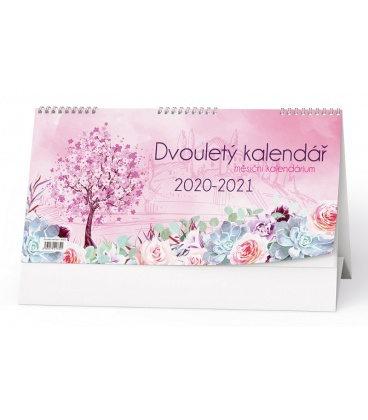 Table calendar Dvouletý kalendář 2020/2021 s měsíčním kalendáriem 2020