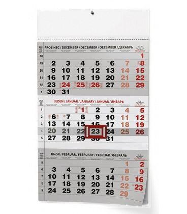 Wall calendar Tříměsíční - A3 (s mezinárodními svátky) - černý 2020