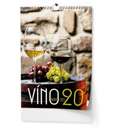 Wall calendar Víno 2020