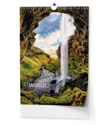 Wall calendar Beautiful world 2020