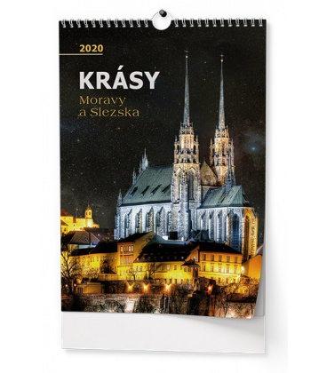 Wall calendar Krásy Moravy a Slezska 2020
